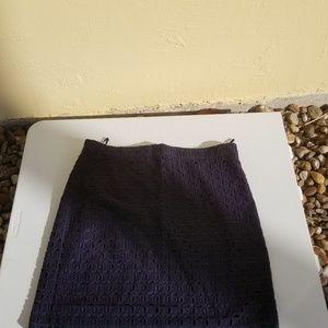 J. Crew Eyelet lavé skirt
